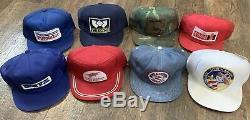 Vintage LOT 8 Snapback Trucker Hat PATCH Cap K-Products Louisville MFG