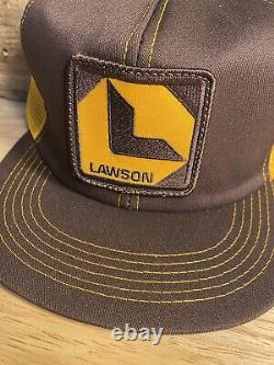 Vintage Lawson Patch Snapback Trucker Hat Mesh Cap K-Products Made in USA farm