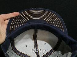 Vintage MADE IN USA Louisville Mfg Blaw Knox Denim Trucker Hat Baseball Cap