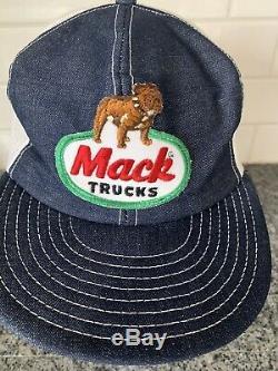 Vintage Mack Truck Hat Snapback Trucker Cap Louisville
