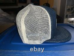 Vintage Mack Trucks K Products Denim Mesh Trucker Snapback Hat Cap Patch USA