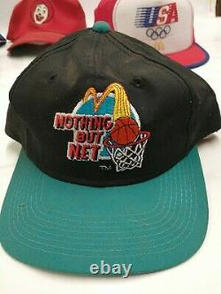 Vintage Mcdonalds 80s 90s Trucker Hat Snapback Cap Olympics Ronald USA Lot READ