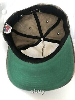 Vintage Mercedes Benz Snapback Trucker Cap Hat Embroidered Logo Trebark Camo USA