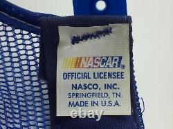 Vintage NASCAR 3 Stripe Snapback Trucker Hat Cap Made In USA Stripes Three