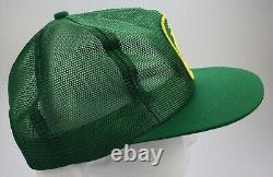 Vintage NOS John Deere Trucker Hat Snapback Cap Green Patch Mesh K-Brand USA New