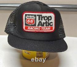Vintage NOS Snapback Trucker Hat Phillips 66 Trop Artic Racing Cap USA