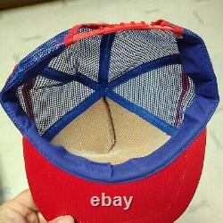 Vintage PEPSI-COLA 3 Stripe Snapback Trucker Hat Cap