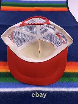 Vintage PEPSI COLA 3 Stripe Snapback Trucker Hat Cap Red White Blue