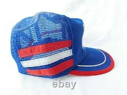Vintage PEPSI POWER 3 Stripe Snapback Trucker Hat Cap Red White Blue RARE
