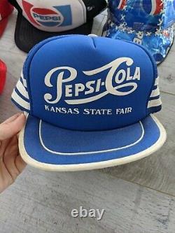 Vintage PEPSI TRUCKER CAP HAT Lot Of 6 private listing