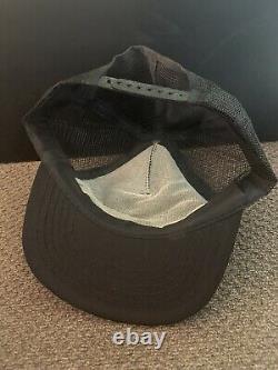 Vintage PLOWBOY Black TRUCKER Snapback Hat Cap PLAYBOY Parody MADE in USA