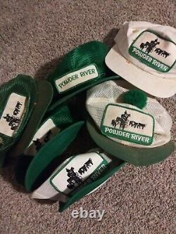 Vintage Powder River K Brand Trucker Meshback Snapback Hat Cap Rare 90s Lot
