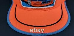 Vintage RICHARD PETTY STP 3 Stripe Trucker Mesh Snapback Hat Cap MADE IN THE USA