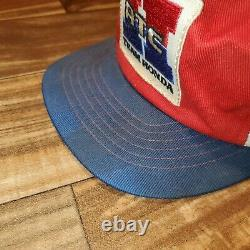 Vintage Rare ATC Honda Cycle Racing Trucker Patch Hat Cap Snapback Made In USA