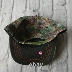 Vintage Rare Von Dutch Logo Camo Mesh Trucker Snapback Hat Cap Camouflage 4