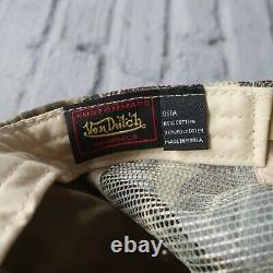 Vintage Rare Von Dutch Logo Tree Camo Mesh Trucker Snapback Hat Cap Camouflage