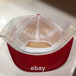 Vintage Red Wing Shoes Trucker Hat Cap Snapback Made in the USA Mesh Back