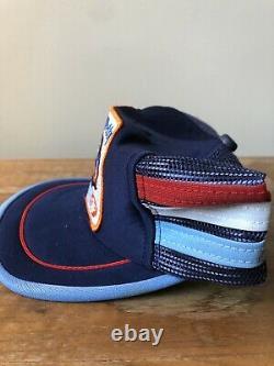 Vintage Richard Petty 3 Stripe Trucker Mesh Snapback Hat Cap Made In The USA