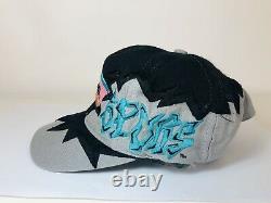 Vintage San Antonio Spurs Drew Pearson Snapback Hat Black Graffiti Trucker NBA