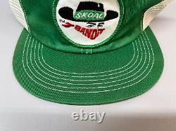 Vintage Skoal Bandit Hat Patch Trucker Snapback 1980s Cap K-Products. RARE