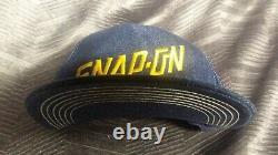 Vintage Snap On Tools Denim Trucker Hat Snapback Hat Baseball Cap USA Made 1970s
