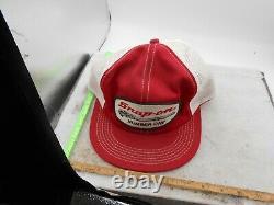 Vintage Snap-on K-brand Snapback Trucker Hat Number One Patch Mesh Cap VTG Tools