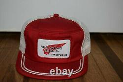 Vintage Snapback Trucker Mesh Hat Cap RED WING SHOES Comfort and Fit