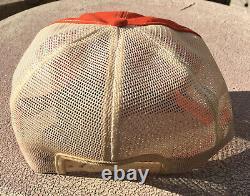 Vintage Stihl Chainsaw Patch Snapback Trucker Hat Cap 70s 80s K BRAND Mesh USA
