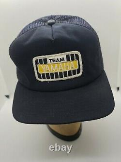 Vintage Team Yamaha Trucker Hat Cap SnapBack Large Patch Embroidered