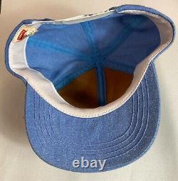 Vintage Trucker Cap Baseball Hat Mesh Snapback Levi's Patch Denim Made In USA