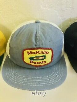 Vintage Trucker Hat Cap Lot 20 All Patch Snapback ALL K Brand Farmer Denim & Box