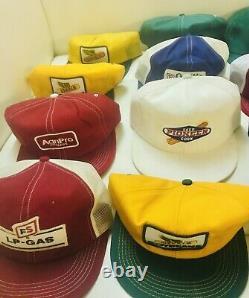 Vintage Trucker Hat Cap Lot 28 All Patch Snapback K Brand Swingster Farmer Denim