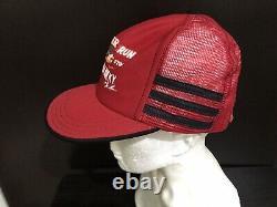 Vintage Trucker Hat Cap USA 3 Stripe Rooster Run General Store Mesh Snapback