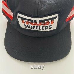 Vintage m&b trust mufflers trucker hat patch snapback automotive cap usa