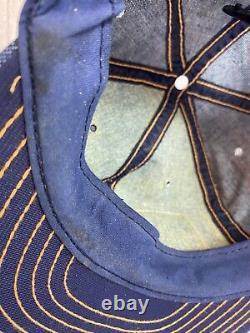 Vintage ocala John Deere Denim Snap Back Patch Trucker Hat Cap Louisville USA