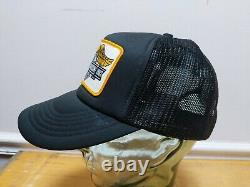 Vtg 1982 HARLEY DAVIDSON MOTORCYCLE Mesh Snapback Trucker Cap Hat 80s Patch Lid