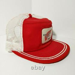 Vtg 80's Red Wing Shoes Patch Trucker Hat Mesh Cap USA Two-Tone Snapback