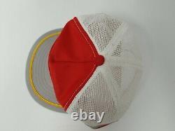 Vtg 80s Bill Elliot 3 Stripe Red Nascar Patch snapback trucker Hat Cap USA made