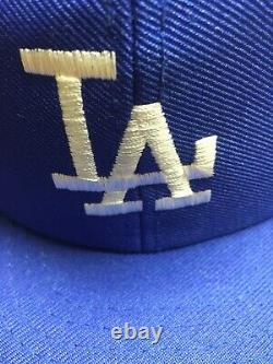 Vtg 80s LA Los Angeles Dodgers SnapBack MLB Baseball Trucker Hat Ball Cap M-L