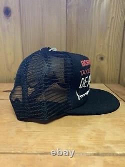 Vtg Born Free Taxed To Death Mesh Trucker Hat Snapback USA Flag 3D Print Cap