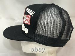 Vtg Born Free Taxed To Death Mesh Trucker Hat Snapback USA Flag Patriot Cap