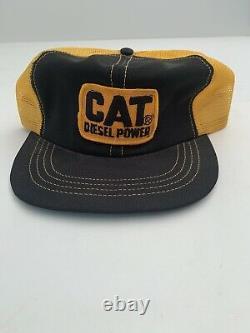 Vtg Cat Diesel Power Hat Snapback Farmer Trucker Cap Amazing Condition Mesh