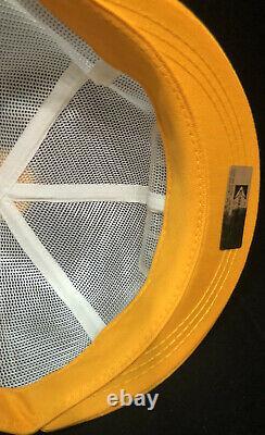 Vtg Ford Tractors Equipment Mesh Trucker Hat Snapback Patch Pom Short Bill Cap