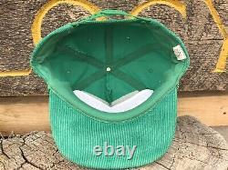 Vtg Green Corduroy SnapBack Rope Hat Mt. High Colorado Trucker Lid Cap Rare Nice