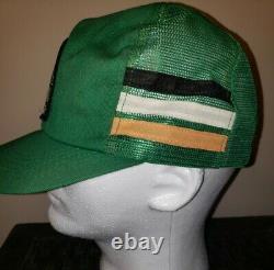 Vtg Kodiak Racing 3 Stripe Patch Snapback Trucker Hat Cap 80s K Products Rusty