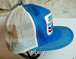 Vtg NOS Ortho Chevron Horse Heaven cap Snapback Trucker Hat USA Farmer K Brand