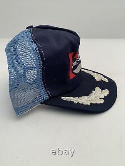 Vtg New Pepsi Cola Snap Back Mesh Trucker Hat Cap RARE White Leaf Inlay On Bill