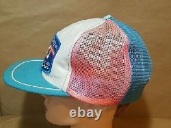 Vtg RICHARD PETTY 200th Win Mesh Pinwheel patch snapback trucker Hat Cap faded