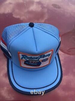 Vtg RICHARD PETTY 3 stripe Mesh patch snapback trucker Hat Cap