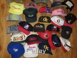 Vtg Snapback Hat Lot x39 Strapback Fitted movie mlb rap dad trucker dodgers cap